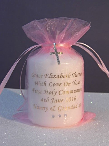 Girls First Holy Communion Personalised Candle